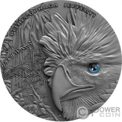 PHILIPPINE EAGLE Aguila Sky Hunters 1 Oz Moneda Plata 2$ Niue 2018