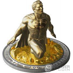 SUPERMAN Sculpture 3D Last Son Of Krypton 10 Oz Серебро Монета 100$ Канада 2018