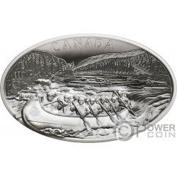 VOYAGEURS Reisende Konkav Gestalten 1 Kg Kilo Silber Münze 250$ Canada 2018
