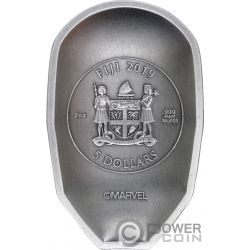 IRON MAN MASK Mascara Marvel 2 Oz Moneda Plata 5$ Fiji 2019