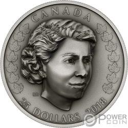NEW QUEEN Elisabetta II 1 Oz Moneta Argento 25$ Canada 2018