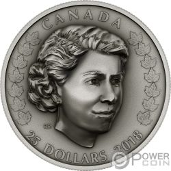 NEW QUEEN Elizabeth II 1 Oz Silver Coin 25$ Canada 2018