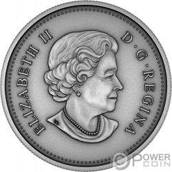 NEW QUEEN Isabel II 1 Oz Moneda Plata 25$ Canada 2018