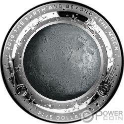 MOON Mond Beyond 1 Oz Silber Münze 5$ Australia 2019