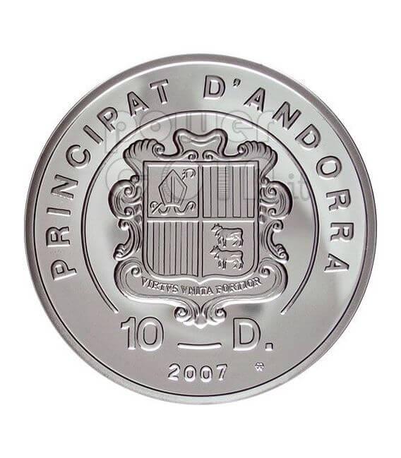 MOUNTAIN BIKE Extreme Sports Серебро Монета 10D Андора 2007