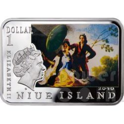 GOYA Francisco Clothed Maja Woman With Umbrella Silver Coin 1$ Niue 2010