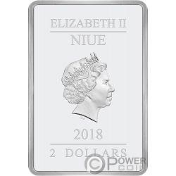 SEASONS GREETINGS Clasicos Disney 1 Oz Moneda Plata 2$ Niue 2018