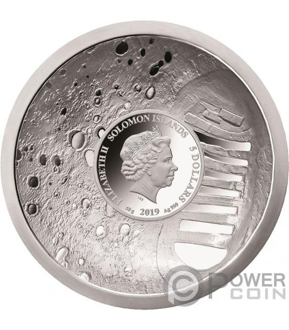 Moon Landing 50th Anniversary Convex Silver Coin 5