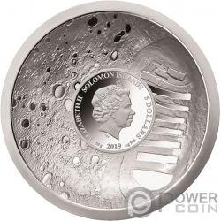 MOON LANDING Mondlandung 50 Jahrestag Konvex Silber Münze 5$ Solomon Islands 2019