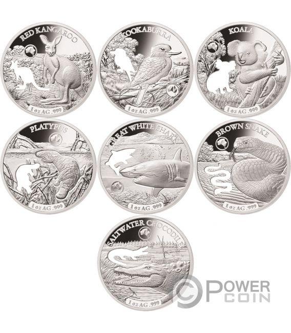 Shapes Of Australia Cutout Set 8x1 Oz Silver Coin 1