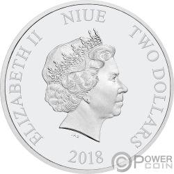 TRIGGERFISH Drückerfische Reef Fish 1 Oz Silber Münze 2$ Niue 2018