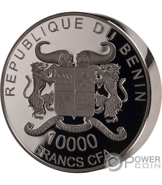 TURTLE Precious Nature Palladium Rhodium 1 Kg Silver Coin 10000 Francs Benin 2018