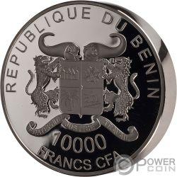 TURTLE Tortuga Precious Nature Palladium Rhodium 1 Kg Moneda Plata 10000 Francos Benin 2018