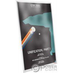 UNIFICATION Star Trek Next Generation Silber Note 1$ Niue 2018