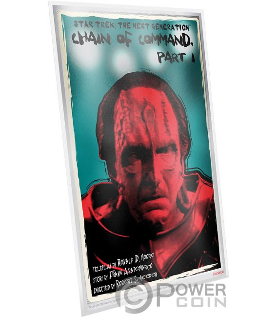 CHAIN OF COMMAND Star Trek Next Generation Foil Silver Note 1$ Niue 2018