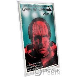 CHAIN OF COMMAND Star Trek Next Generation Foil Серебро Note 1$ Ниуэ 2018