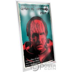 CHAIN OF COMMAND Star Trek Next Generation Silber Note 1$ Niue 2018