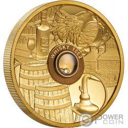 WHISKY Vatted Glenlivet 1862 Oldest Spirits 2 Oz Moneda Oro 50$ Tuvalu 2018