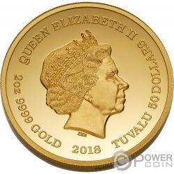 WHISKY Vatted Glenlivet 1862 Oldest Spirits 2 Oz Gold Münze 50$ Tuvalu 2018