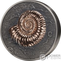 AMMONITE Evolution of Life 1 Kg Kilo Moneda Plata 20000 Togrog Mongolia 2018