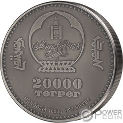 AMMONITE Evolution of Life 1 Kg Kilo Серебро Монета 20000 Тугриков Монголия 2018
