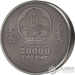AMMONITE Evolution of Life 1 Kg Kilo Silver Coin 2000 Togrog Mongolia 2018