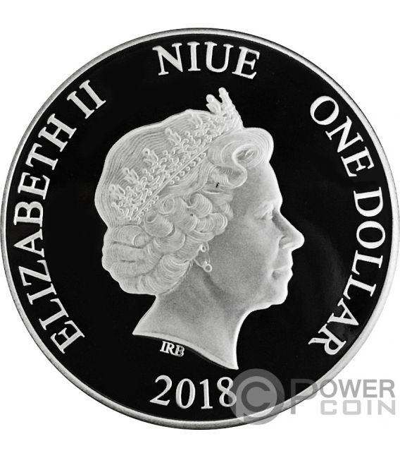 Toucan Colored 1 Oz Silver Coin 1 Niue 2018 Power Coin