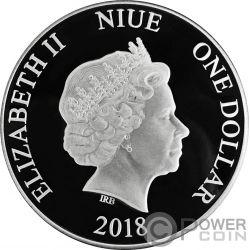 TOUCAN Tucan Colored 1 Oz Moneda Plata 1$ Niue 2018