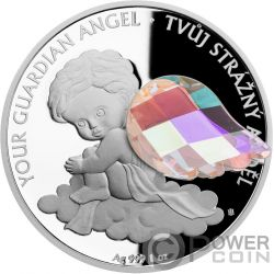 GUARDIAN ANGEL 1 Oz Moneda Plata 2$ Niue 2018