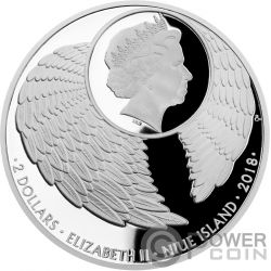 GUARDIAN ANGEL Angelo 1 Oz Moneta Argento 2$ Niue 2018