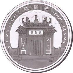RAT Lunar Year 1 Oz Plata Proof Moneda 20 Patacas Macau 2008