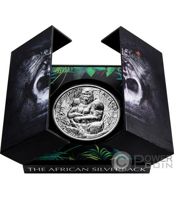 Silverback Gorilla 1 Kg Kilo Silver Coin 2000 Francs