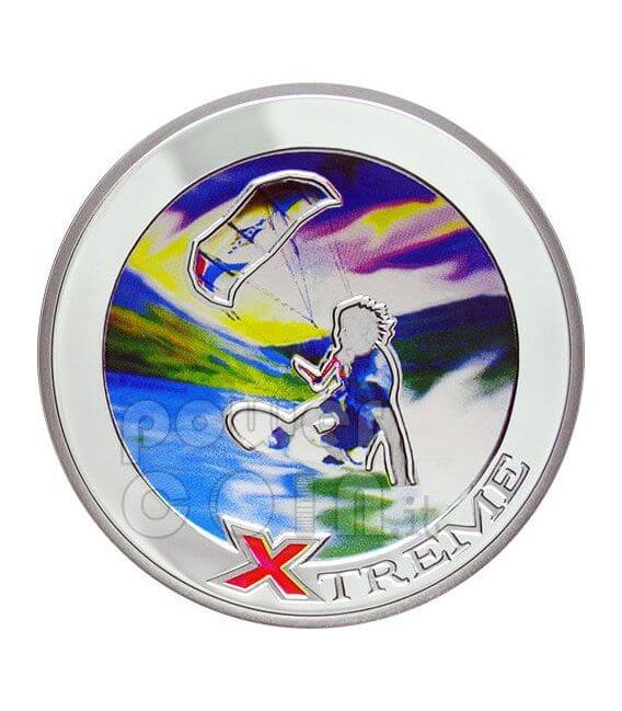 KITE BOARD Fly Surf Extreme Sports Moneda Plata 10D Andorra 2008