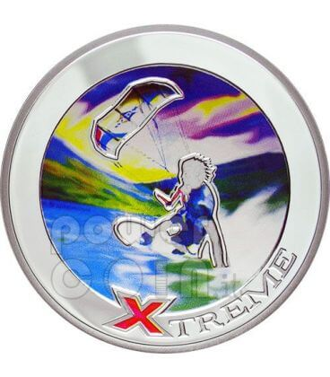KITE BOARD Fly Surf Extreme Sports Silver Coin 10D Andorra 2008