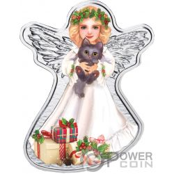 CHRISTMAS ANGEL Weihnachten Engel Silber Münze 500 Franken Cameroon 2018