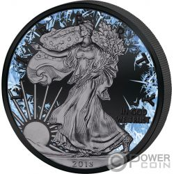 WALKING LIBERTY Deep Frozen Edition 1 Oz Moneta Argento 1$ Dollar US Mint 2018