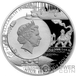 ALBATROS Fantastic World Jules Verne 1 Oz Silber Münze 1$ Niue 2018