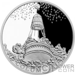COLUMBIAD SPACE GUN Fantastic World Jules Verne 1 Oz Серебро Монета 1$ Ниуэ 2018
