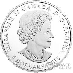 NOVEMBER Birthstone Swarovski Crystal Silver Coin 5$ Canada 2018