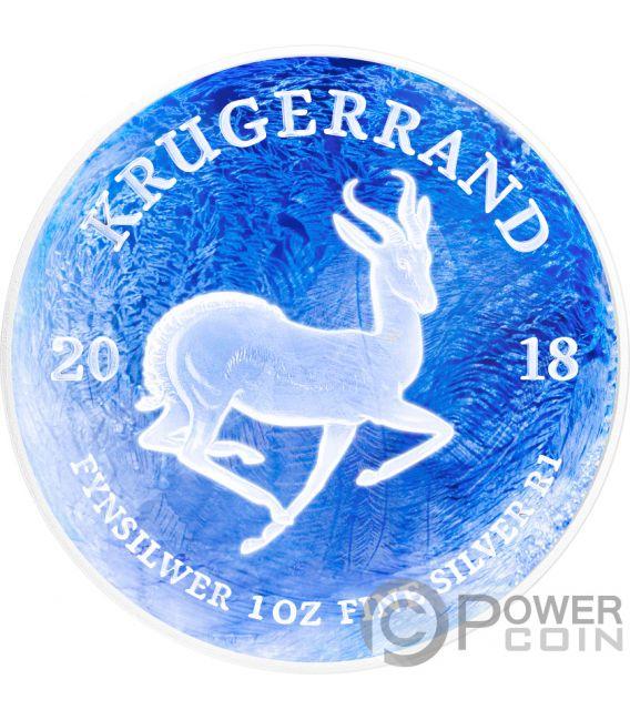KRUGERRAND Congelado Frozen 1 Oz Moneda Plata 1 Rand South Africa 2018
