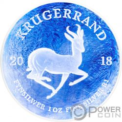 KRUGERRAND Congelado Frozen 1 Oz Moneda Plata 1 Rand South Africa 2018