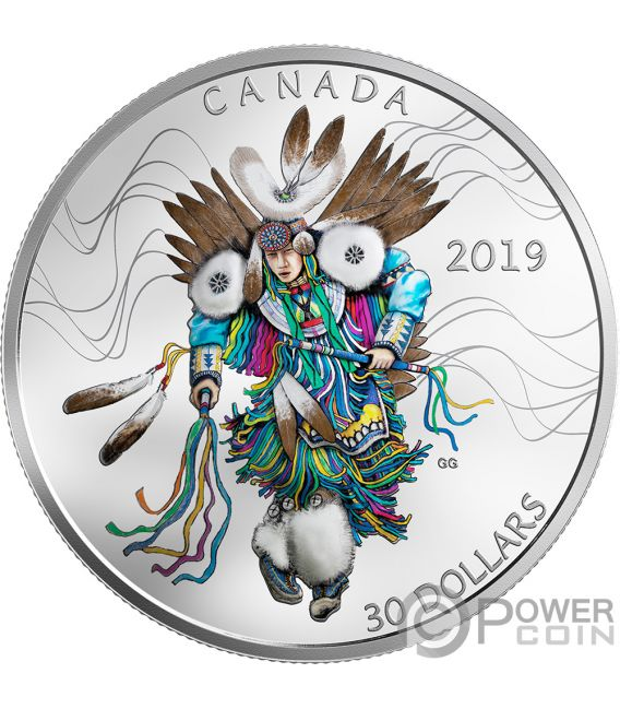 Fancy Dancing 2 Oz Silver Coin 30 Canada 2019 Power Coin