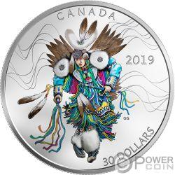 FANCY DANCING Tanz 2 Oz Silber Münze 30$ Canada 2019