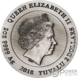 HUSSARS Husaren Warfare 2 Oz Silber Münze 2$ Tuvalu 2018