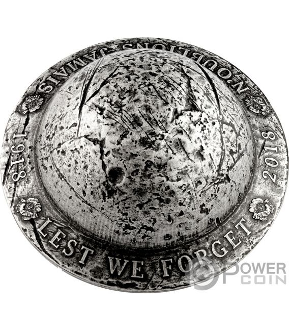 LEST WE FORGET 100th Anniversary Silver Coin 25$ Canada 2018