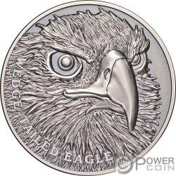 WEDGE TAILED EAGLE Aguila Wildlife Up Close 1 Oz Moneda Plata 1$ Niue 2019