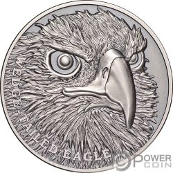 WEDGE TAILED EAGLE Aquila Wildlife Up Close 1 Oz Moneta Argento 1$ Niue 2019