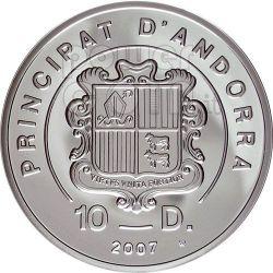 KITE BOARD Fly Surf Extreme Sports Серебро Монета 10D Андора 2008