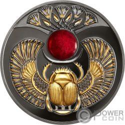 RUBY SCARABAEUS Ancient Symbol Silber Münze 1$ Niue 2019