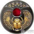 RUBY SCARABAEUS Ancient Symbol Moneda Plata 1$ Niue 2019